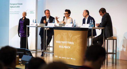 Die Diskussion wurde von VN-Chefredakteur Gerold Riedmann moderiert.