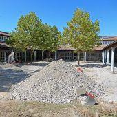 Neue Schulhöfe in der Harder Mittelweiherburg