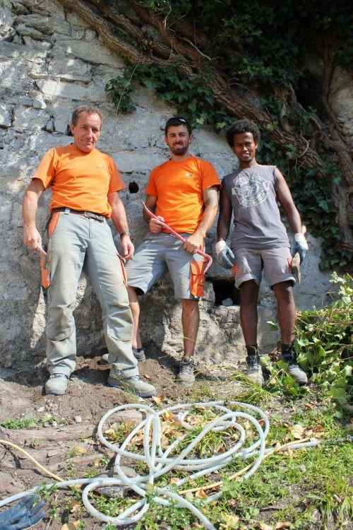 Die Sanierungsarbeiten wurden kürzlich wieder aufgenommen. VN/JLO