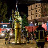 Wiesbaden baut Erdogan-Statue ab