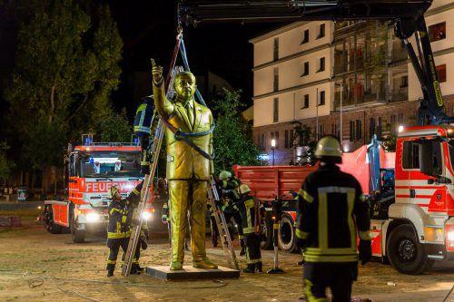 Die Stadt beendete die Kunstaktion, nachdem sich Proteste abzeichneten. AFP