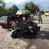 Vier Verletzte bei Auffahrunfall