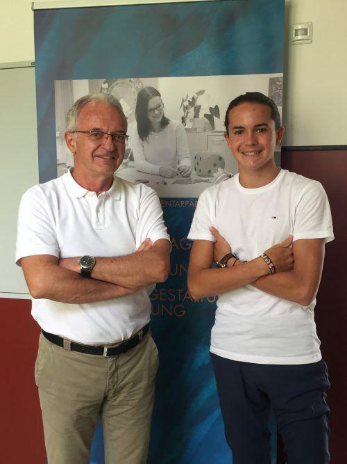 Direktor Gerhard Frontull und Elias Nussbaumer bekommen im Herbst an der BAfEP männliche Verstärkung. VN/MEF