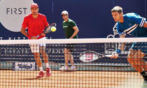 Endstation im Viertelfinale: Philipp Oswald (l.) und Max Mirnyi.gepa