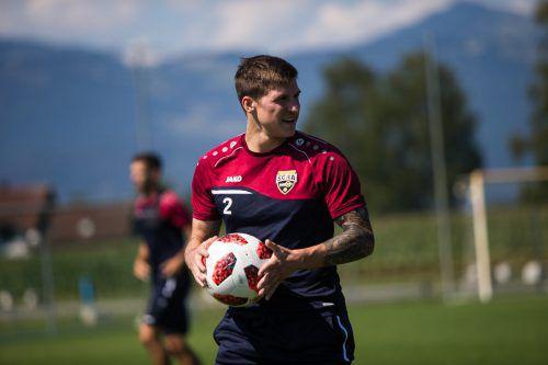 Er hat sich sehr schnell in der Mannschaft zurechtgefunden, immerhin kennt Joshua Gatt (Bild) ja noch einige Spieler aus seiner ersten Zeit in Altach.steurer