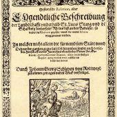 Als Vorarlbergs erstes Buch entstand