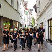 Alienchoristen zeigten sich in Feldkirch als irdisch gut singende Außerirdische. D5
