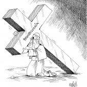 Schwer zu tragendes US-Kreuz!