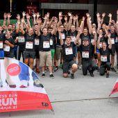 Meusburger stellt großes Team beim Business Run