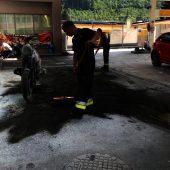 Motorrad fängt Feuer