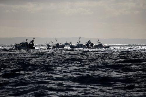 Französische Fischer versuchen ihre Konkurrenten aus Großbritannien davon abzuhalten, vor der Küste der Normandie Jakobsmuscheln zu fangen. Reuters