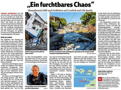 Für die Hilfsaktion von Blue Marlin Dive gibt es ein Spendenkonto in Österreich.