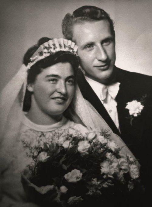 Georg und Maria Partl an ihrem großen Tag am 23. August 1948. privat