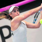 Julia Grabher gewann dasPrestigeduell gegen Barbara Haas