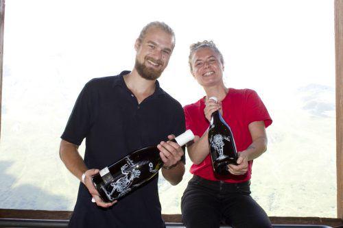 Lukas und Ninon Strobl vom Weingut Strobl.