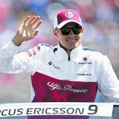 Ericsson fährt seit Langemohne Trinkflasche