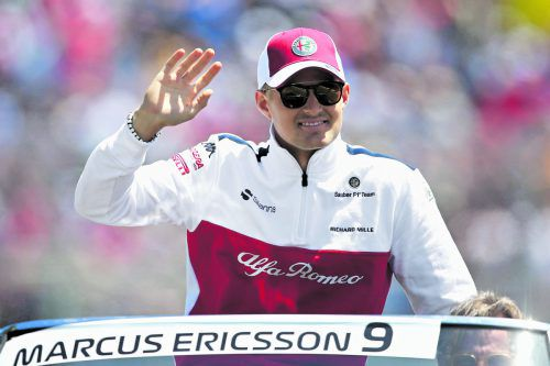 Marcus Ericsson ist im Sauber ohne Trinksystem unterwegs.apa