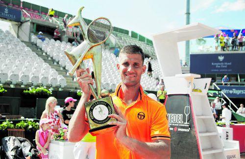 Martin Klizan holte sich in Kitzbühel die Tennis-Gams ab.gepa