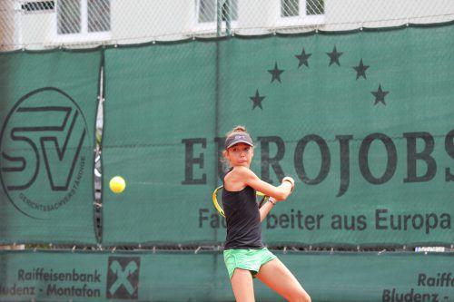 Mia Liepert steht mit der Tirolerin Charly Egger im Unter-14-Endspiel.???