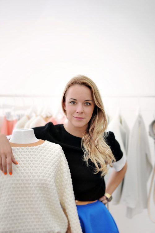 """Modedesignerin Marina Hoermanseder spricht zum Thema """"New Work""""."""