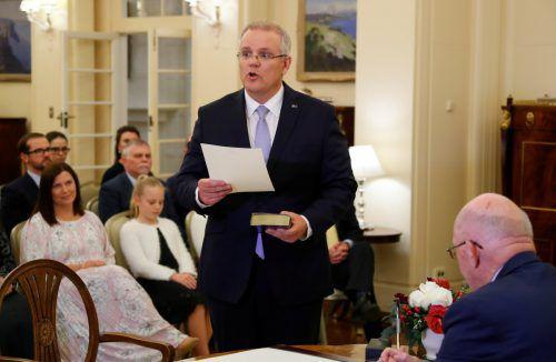 Morrison (im Bild) folgt auf den gestürzten Turnbull. reuters