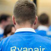 Ryanair-Passagiere am Boden