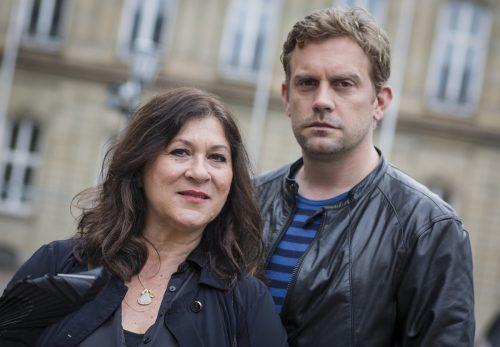 """Sebastian Bezzel und Lisa Maria Potthoff sind derzeit gemeinsam im Kinofilm """"Sauerkrautkoma"""" zu sehen. dpa"""