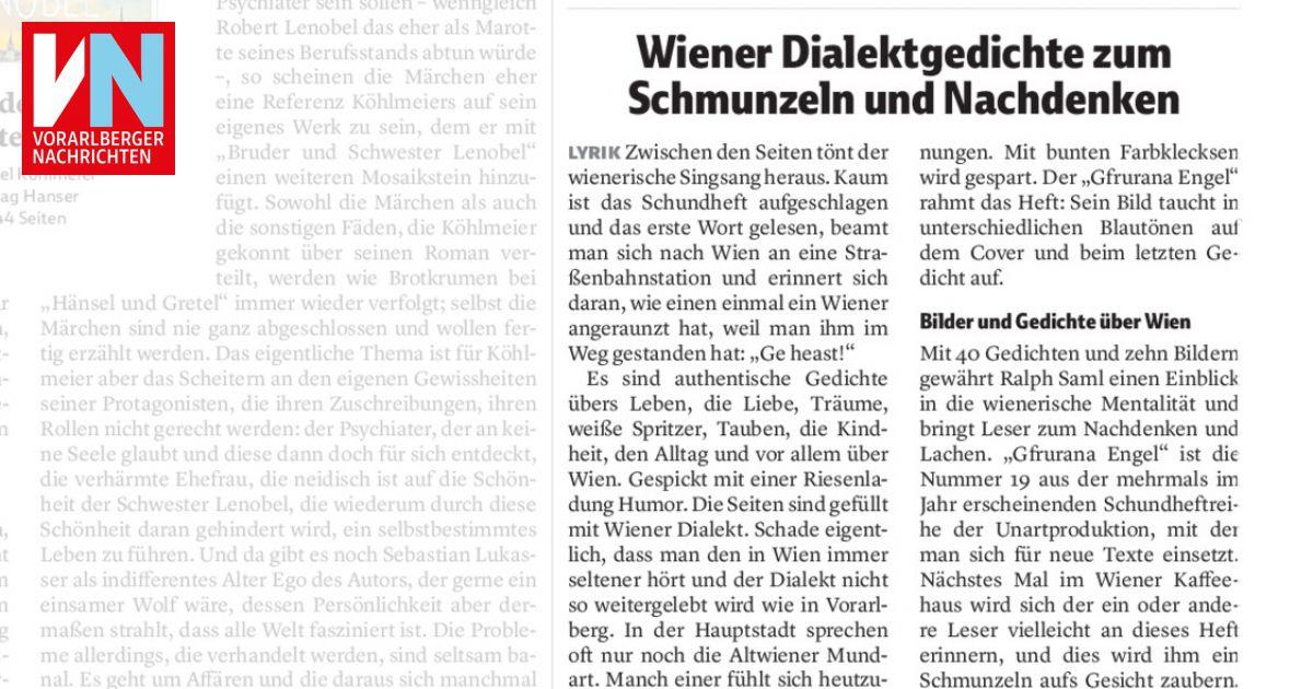 Wiener Dialektgedichte Zum Schmunzeln Und Nachdenken