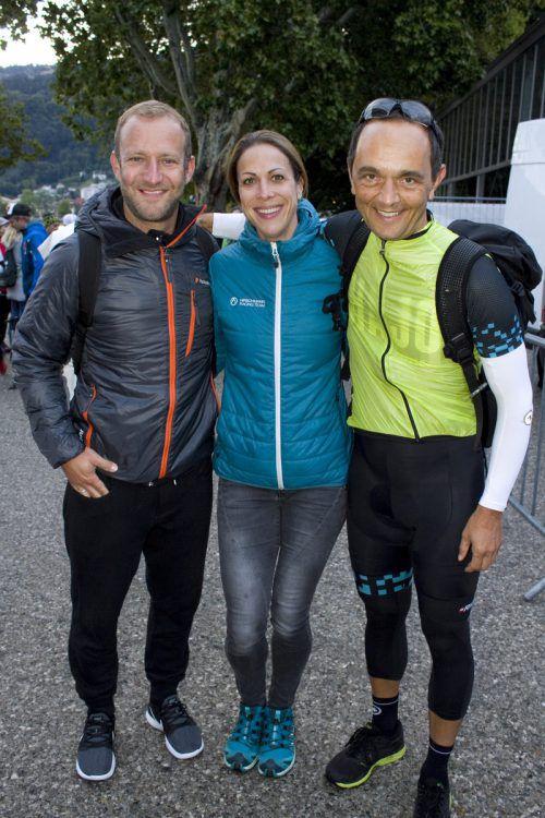 Staffel-Dreier: Andi Heinzle, Niki Bell und Hannes Jochum (v.l.)
