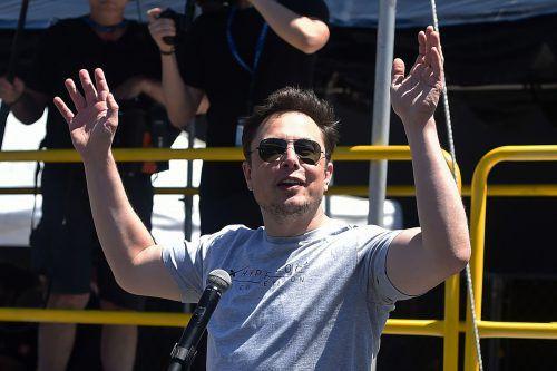 Tesla-Mastermind Elon Musk sorgt via Twitter für Hektik an der Börse. AFP