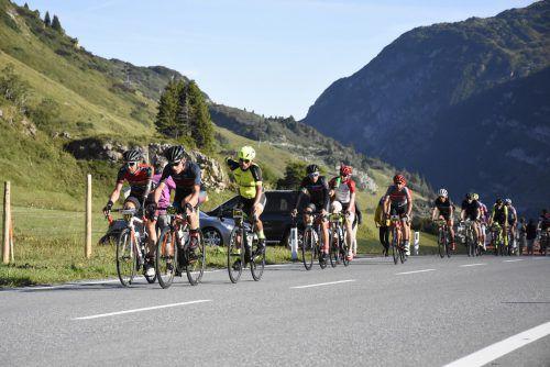 Über 1000 Fahrer erklommen beim Highländer-Radmarathon die Pässe Vorarlbergs.Highlander