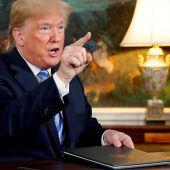 US-Sanktionen wieder in Kraft