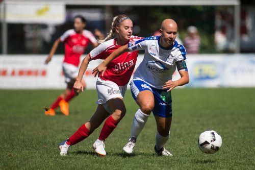 Kapitänin Verena Müller und der FFC Vorderland empfangen zum Auftakt in der Frauen-Bundesliga am Samstag (13 Uhr) den FC Bergheim.VN/Steurer