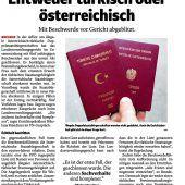 Keine Gnade für illegale Doppelstaatsbürger