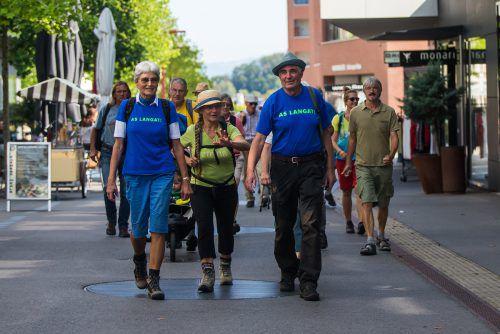 Vorarlberger Naturschützer haben sich zum Protestmarsch zusammengeschlossen und erheben gemeinsam ihre Stimme.vn/Steurer