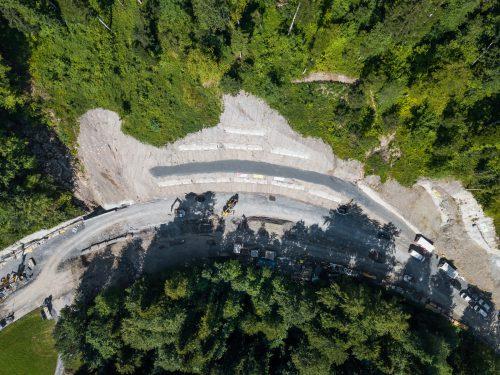 Wegen der Baustelle zwischen Egg und Müselbach musste der Verkehr acht Wochen lang umgeleitet werden. VN/Steurer