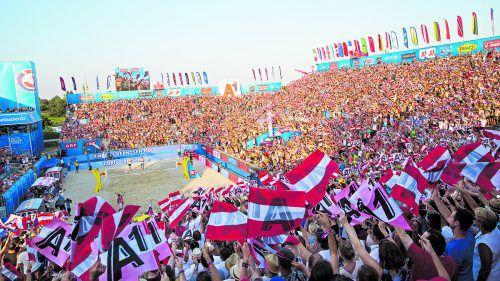 Wien ist die Beach-Volleyballhauptstadt Nummer eins: 100.000 Fans waren beim Major-Turnier auf der Donauinsel dabei.gepa