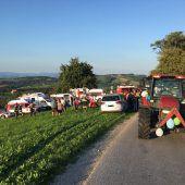 Traktorunfall bei Polterabend: Lenker war zu schnell unterwegs