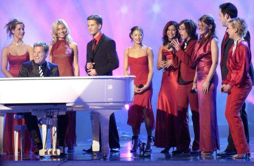"""2003 traten die Teilnehmer der ersten Staffel von """"Deutschland sucht den Superstar"""" noch gemeinsam bei der Echo-Preisverleihung auf.DPA"""