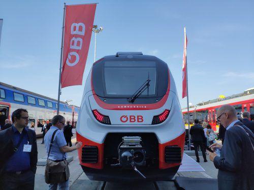 Am Mittwoch wurden die neuen Vorarlberger Züge präsentiert. Nach Liechtenstein werden sie vorerst nicht fahren. VN/Haller