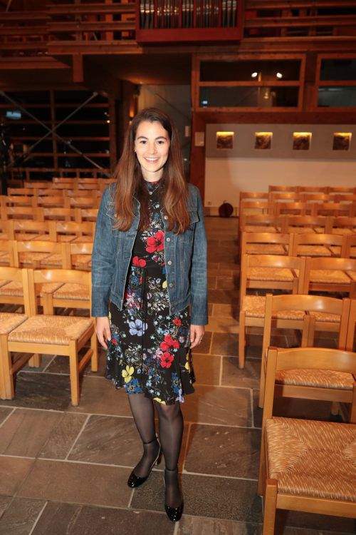 Anna Mader bei der offiziellen Eröffnung in der Lecher Kirche.