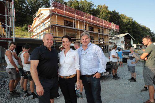 Architekt Johannes Kaufmann, Waltraud und Jodok Fetz. AME