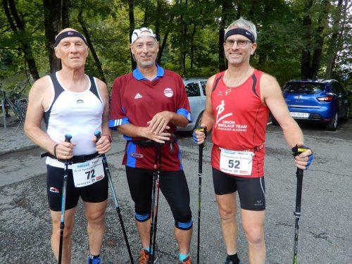 """Auch die """"Nordic Walker"""" bestritten ihren Karrenlauf erfolgreich und hatten sichtlich Freude dabei."""