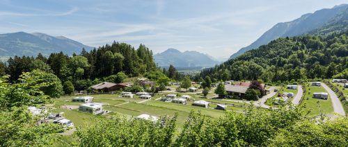 Beim hohen Niveau der Vorarlberger Campingplätze (Bild Alpencamping Nenzing) kein Wunder, dass heuer mehr Gäste kamen. ACN