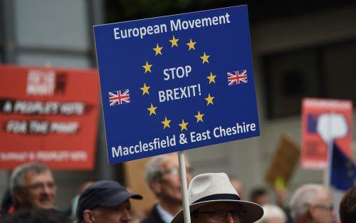 Beim Labour-Parteitag in Liverpool wurde gegen den Brexit demonstriert. afp