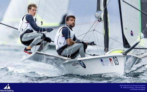 Benjamin Bildstein (l.) und David Hussl siegten bei der Olympic Week.Verband