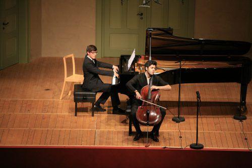 Cellist Kian Soltani und Pianist Aaron Pilsan gastieren in Hohenems. Veranstalter