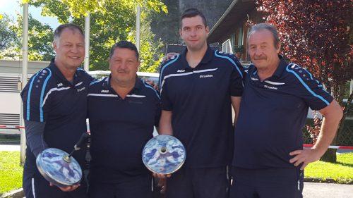 Christoph Sohm, Reinhard Zachari, Patrik Plangger und Wilfried Mallin. svl