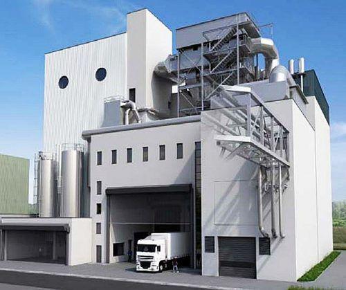 Das Holzkraftwerk in Basel steigert den Anteil der erneuerbaren Energie in der Fernwärmeproduktion. IWB Basel