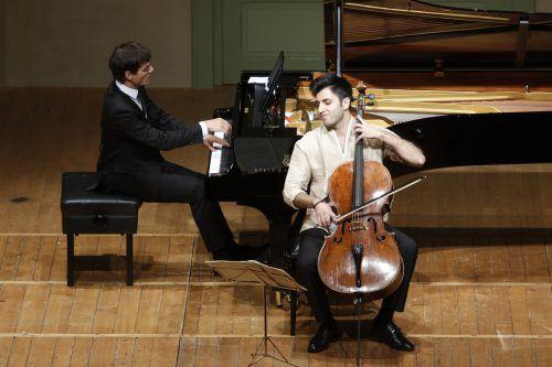Das Konzert im Markus-Sittikus-Saal in Hohenems wurde für die Vorarlberger Musiker Aaron Pilsan und Kian Soltani zum Triumph. Schubertiade